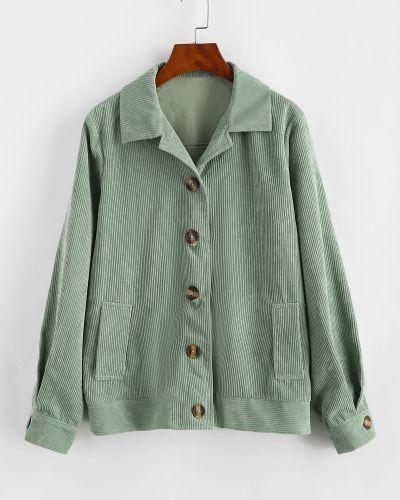 Куртка вельветовая - зеленая Zaful