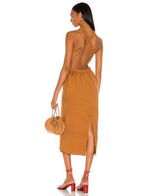 Хлопковое платье миди Bardot