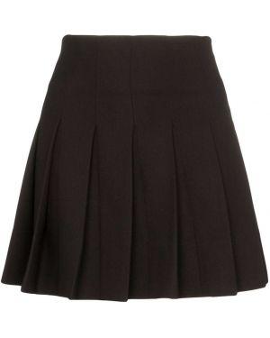 Плиссированная черная юбка мини George Keburia