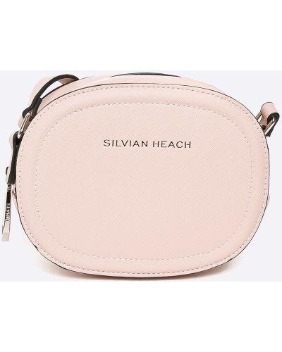 Розовые очки кожаные Silvian Heach