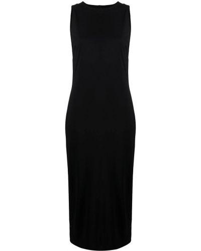 Черное платье с вырезом без рукавов Karl Lagerfeld