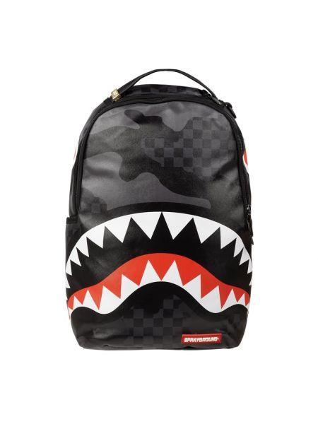 Czarny plecak na laptopa na rzepy Sprayground
