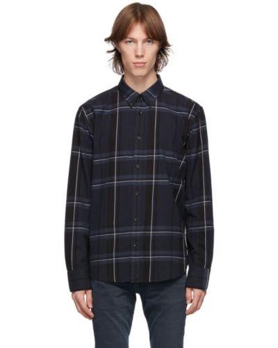 Czarna koszula bawełniana z długimi rękawami Rag & Bone