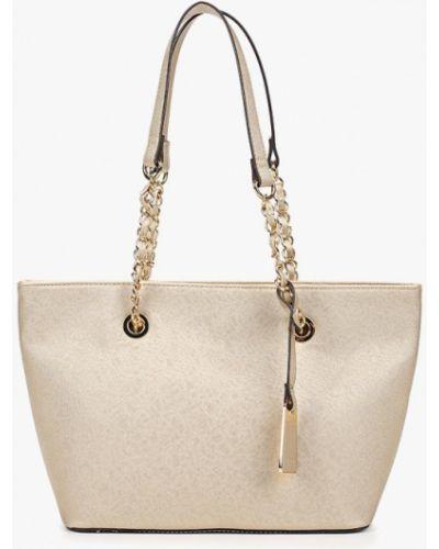 Кожаный сумка золотого цвета Aldo