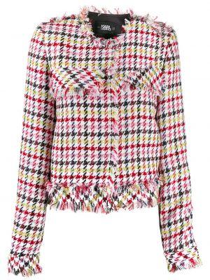 Куртка укороченная белая Karl Lagerfeld