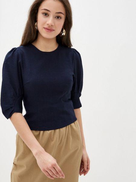 Синяя блузка с длинным рукавом With&out