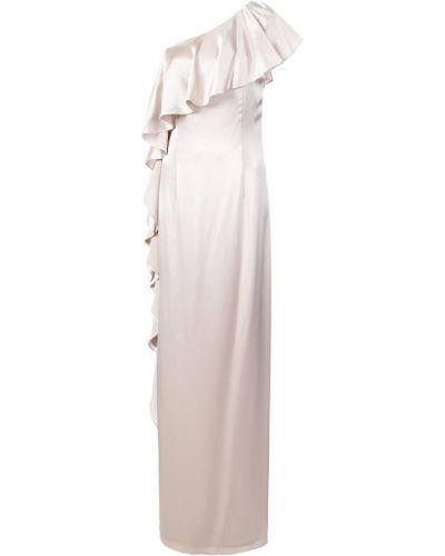 Платье макси на одно плечо бежевое Zac Zac Posen