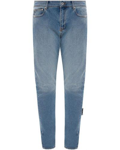 Mom jeans z printem - białe Off-white