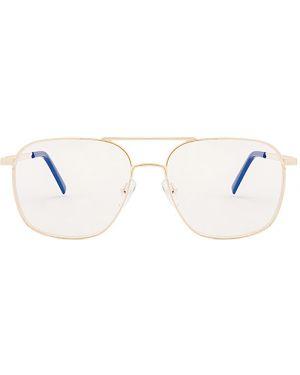 Złote czarne okulary The Book Club