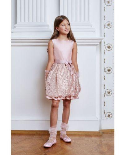 Платье с рукавами с пайетками хлопковое смена