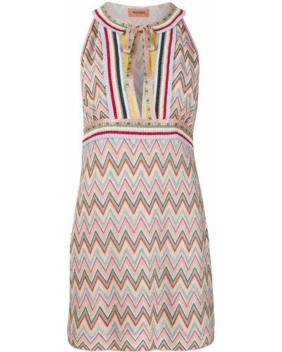 Платье бежевое без рукавов Missoni