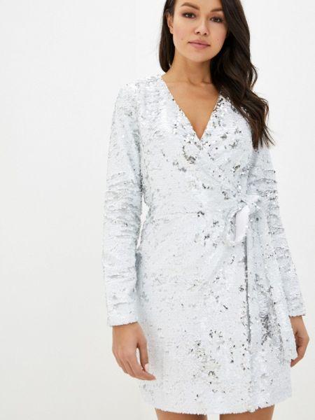 Вечернее платье осеннее серебряный Imocean