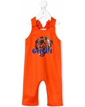Комбинезон с логотипом длинный Gucci Kids
