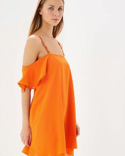 Оранжевое прямое платье Phard