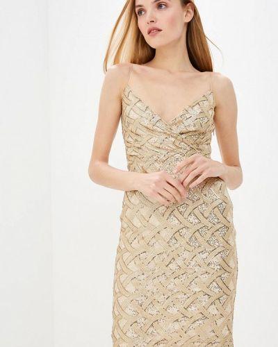 Вечернее платье осеннее золотой Ruxara