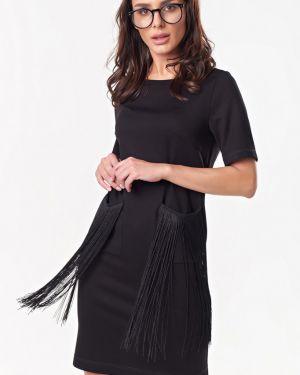 Платье мини миди с бахромой Fly