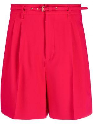Красные шорты с карманами из вискозы Red Valentino