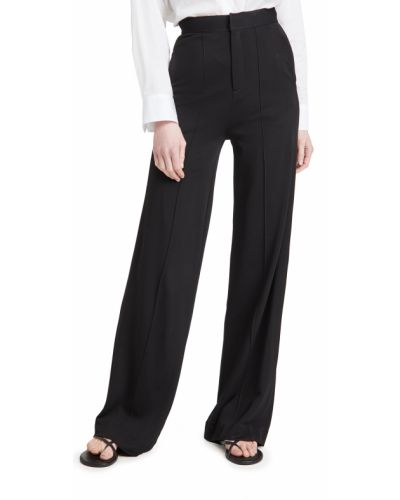 Czarne spodnie z wysokim stanem z wiskozy Rag & Bone