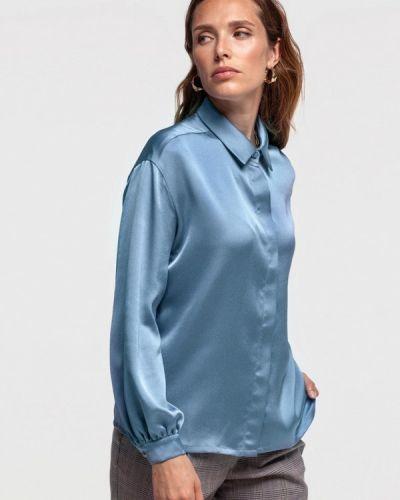 Бирюзовая с рукавами блузка Lova