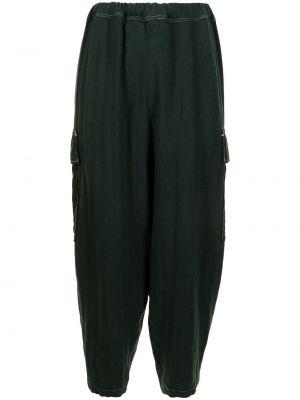 Зауженные зеленые брюки карго с поясом Undercover