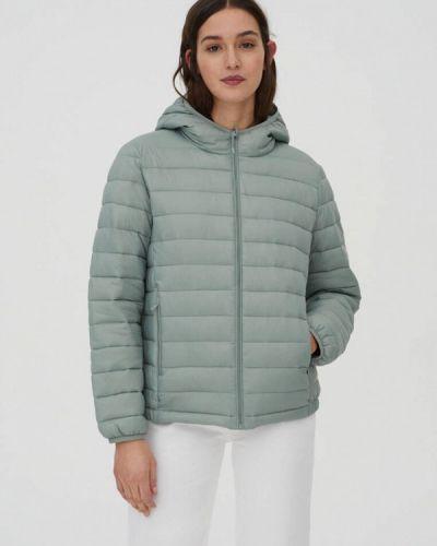 Зеленая утепленная куртка Pull&bear