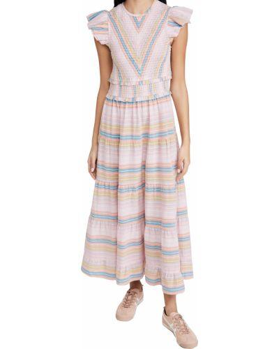 Хлопковое платье с декольте стрейч Saylor