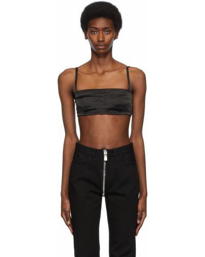 Satynowy biustonosz - czarny Givenchy