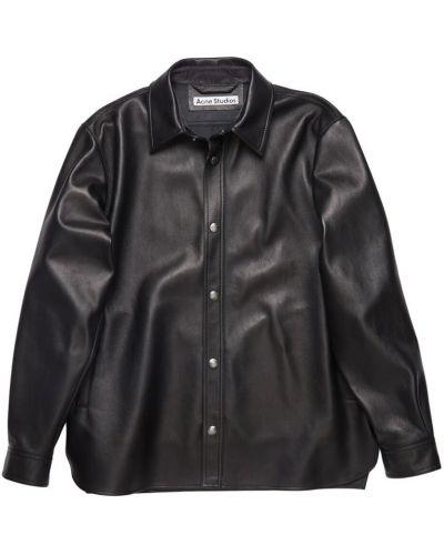 Czarna długa kurtka z długimi rękawami zapinane na guziki Acne Studios