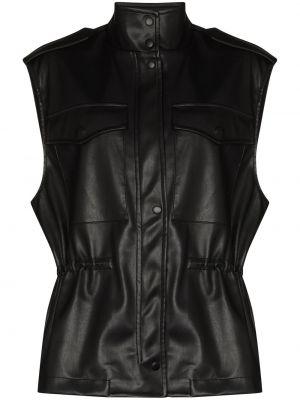 Черная жилетка с карманами Frankie Shop