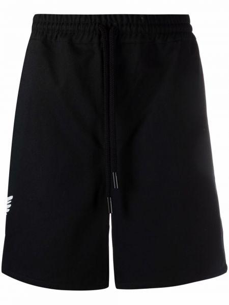 Czarne szorty bawełniane z printem 3.paradis
