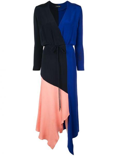 Платье с поясом с драпировкой с рукавами Cushnie