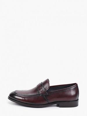 Бордовые кожаные туфли Abricot
