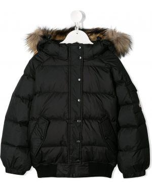 Черная акриловая куртка Pyrenex Kids