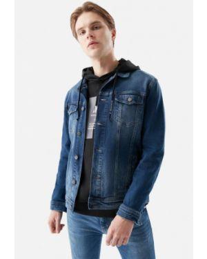Синяя джинсовая куртка прозрачная Mavi