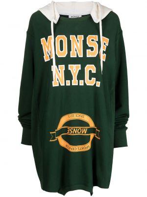 Zielona sukienka prążkowana Monse