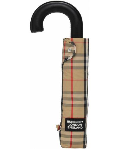 Beżowy parasol z nylonu z printem Burberry