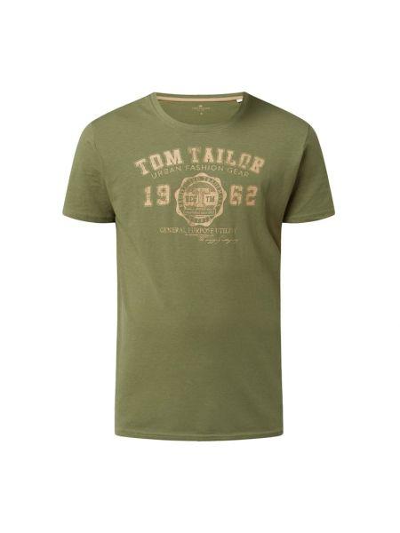 Zielona koszulka bawełniana Tom Tailor