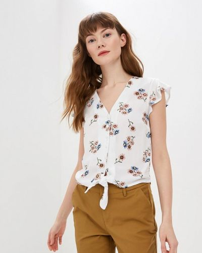 Блузка с коротким рукавом белая весенний Modis