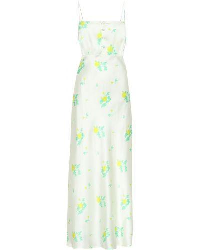 Платье миди с цветочным принтом шелковое Bernadette
