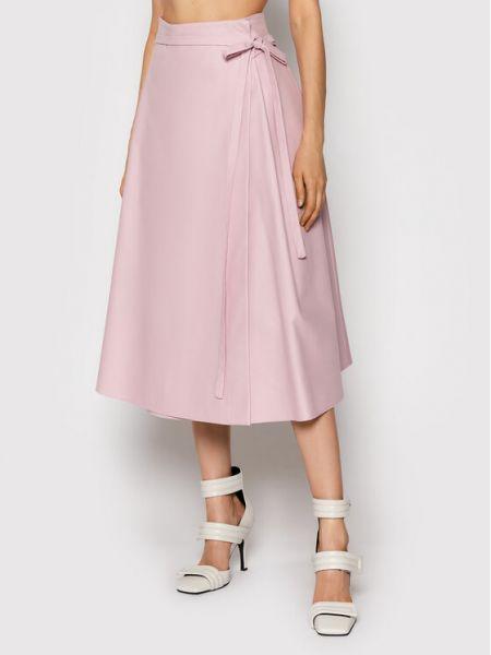 Różowa spódnica trapezowa Msgm