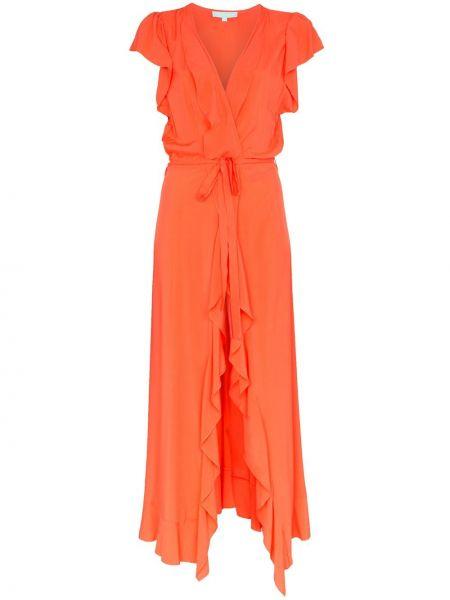 Платье макси с запахом с V-образным вырезом с оборками на молнии Melissa Odabash