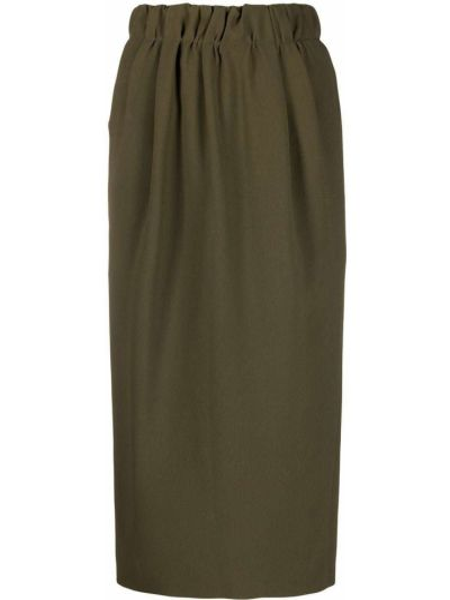 Зеленая юбка карандаш из вискозы N°21