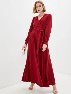 Красное платье с запахом Seam