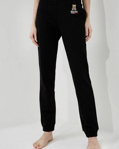 Черные брюки домашние Moschino