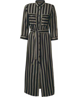 Платье с поясом платье-рубашка с рукавами Bonprix