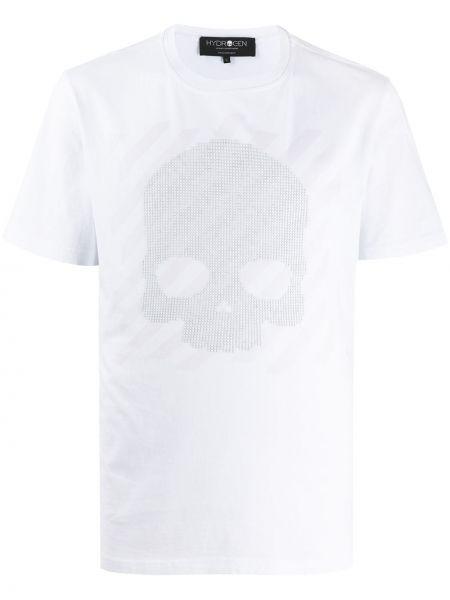 Koszula krótkie z krótkim rękawem prosto z czaszkami Hydrogen