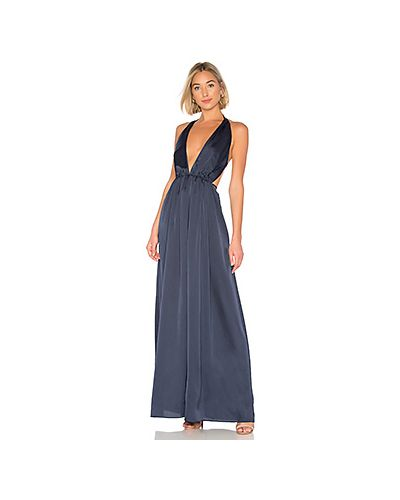 Платье макси на молнии синее The Jetset Diaries