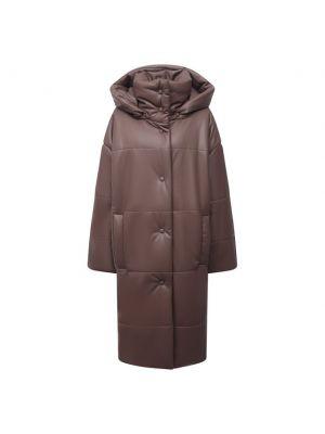 Серая куртка из полиуретана Nanushka