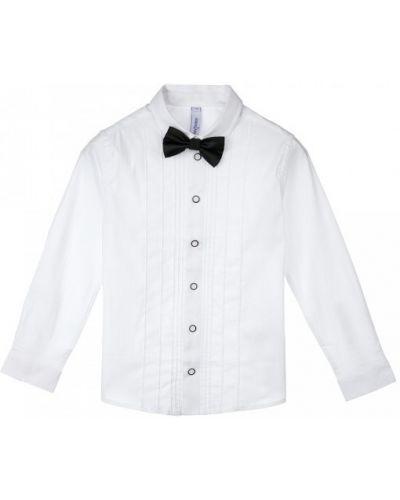 Хлопковая блузка на пуговицах с бабочкой Playtoday