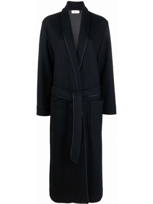 Серое длинное пальто Agnona
